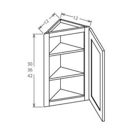 "AW1236 - Angle Wall Cabinet 12""W x 36""H"