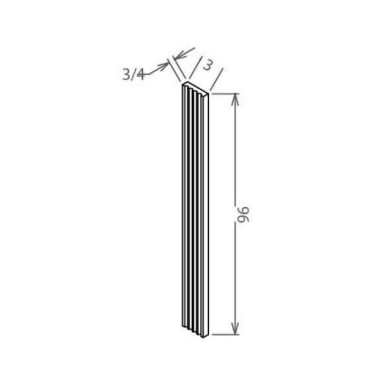 """FF396 - Wall Fluted Filler - 3""""W"""