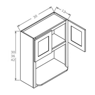 """MO3042 - Wall Microwave Cabinet - 30""""W x 42""""H"""