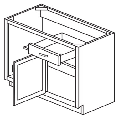 "York Cherry 36"" Blind Base Corner Cabinet-Ready to assemble"