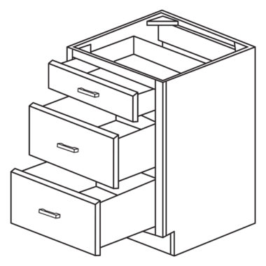 "Heritage White 30"" Drawer Base Cabinet-Ready to assemble"