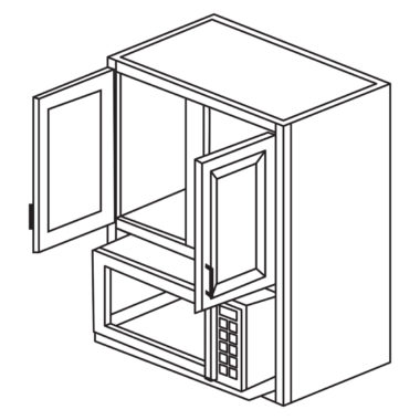 """Shaker Cherry 30"""" x 36"""" Microwave Cabinet-Ready to assemble"""