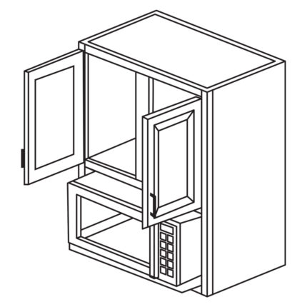 """York Cherry 30"""" x 36"""" Microwave Cabinet-Ready to assemble"""