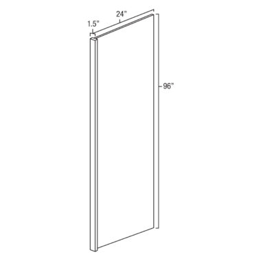 "York Coffee 96""x 24"" Refrigerator End Panel"