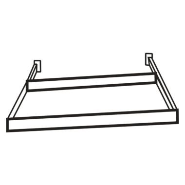 "Heritage White 36"" Roll Out Tray"