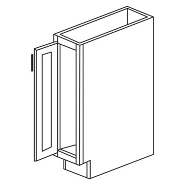 """Shaker Cherry 9'"""" Tray Base / Cookie Sheet Cabinet-Ready to assemble"""