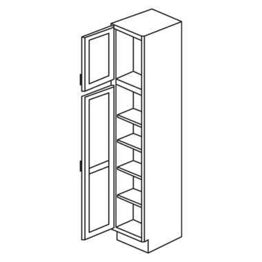 """Heritage White 18"""" x 84"""" Utility Cabinet-Ready to assemble"""