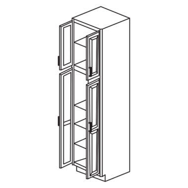 "Shaker Cherry 24"" x 96"" Utility Cabinet-Ready to assemble"