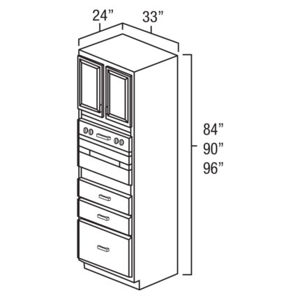 """Legacy Oak 33"""" x 84"""" Universal Oven Cabinet-Ready to assemble"""