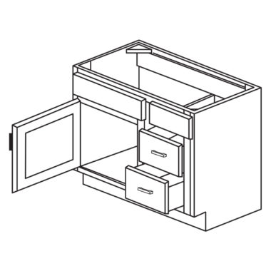 """York Coffee 30"""" x 21"""" Vanity Combination-Ready to assemble"""