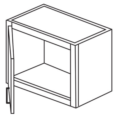 """Shaker Cherry 18"""" x 12"""" Decorative Wall Cabinet / Stacker with Beveled Glass-Ready to assemble"""