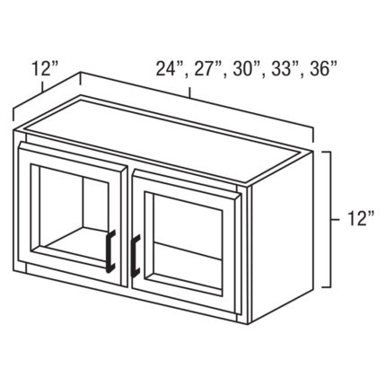 """York Cherry 36"""" x 12"""" Decoative Wall Cabinet / Stacker-Ready to assemble"""