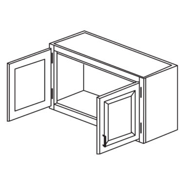 """Heritage White 30"""" x 15"""" Bridge Wall Cabinet-Ready to assemble"""