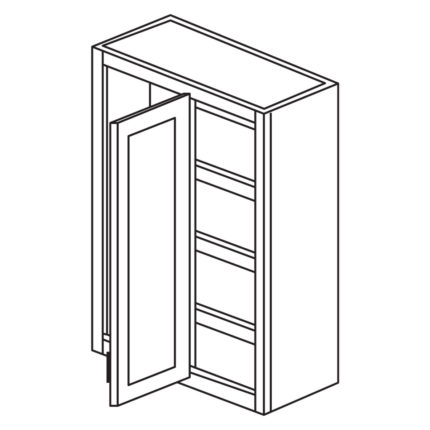 """Shaker Cherry 27"""" x 30"""" Blind Corner Wall Cabinet-Ready to assemble"""