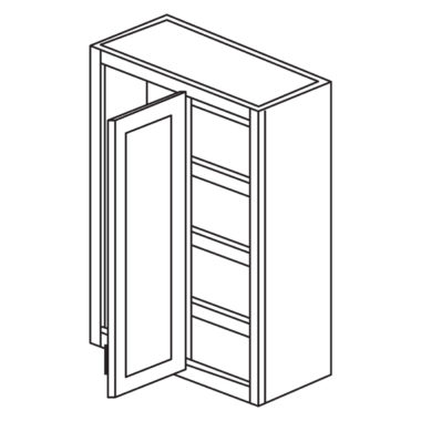 "York Cherry 27"" x 36"" Blind Corner Wall Cabinet-Ready to assemble-Ready to assemble"