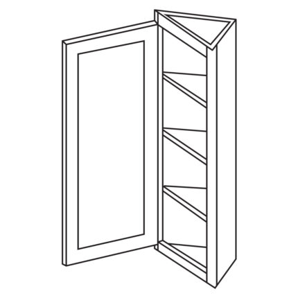 "York Cherry 12""x 30"" Wall End Cabinet-Ready to assemble"