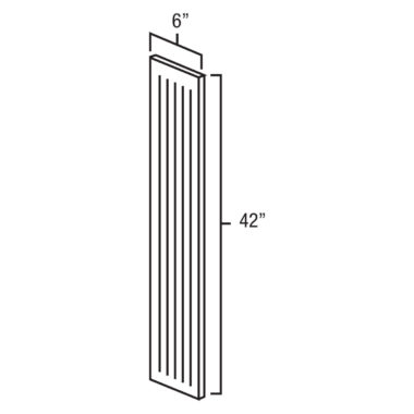 "York Cherry 6""x 42"" Fluted Wall Filler"