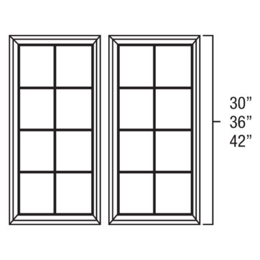 "MD3042 - Mullion Door - 30""W x 42""H"