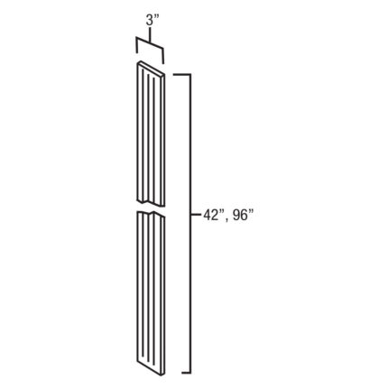 """WFF342 - Fluted Wall Filler - 3""""W"""