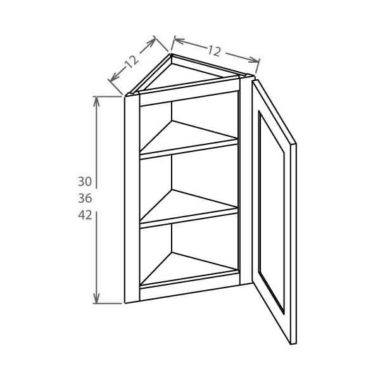 """AW1236 - Angle Wall Cabinet 12""""W x 36""""H"""