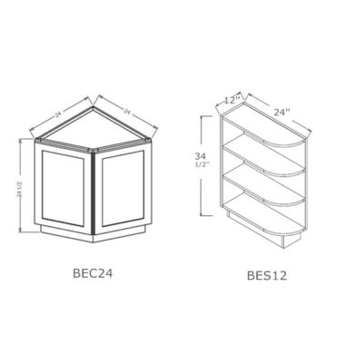"BEC24 - Angle Base End Cabinet - 24""W"