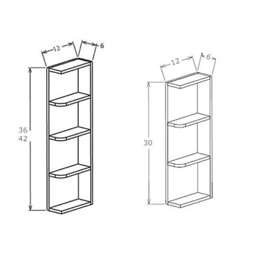 "OE630 - Wall End Shelf - 30""H"