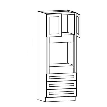 """O339024 - Oven Cabinet - 90""""H"""