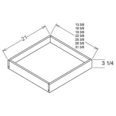 """RS27 - Roll Out Shelf - 27""""W"""